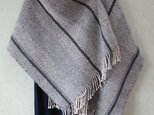 ウール手織りショール(濃グレー)の画像