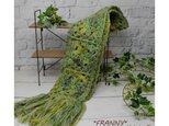 【再販】発色がすてき!イタリア糸使用のマフラー(グリーン)の画像