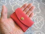 【手縫いの新作】現金だけに割り切った本当に小さなお札&コインケースの画像