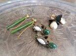 レオパードピアス ヴィンテージルーサイト vintage pierced earrings <PE-lpL>の画像