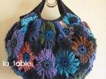 花たくさんのバッグ「INDIGO BLUE」の画像
