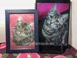 犬や猫の羊毛フェルト絵2L版:オーダーメイドの画像