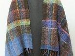 手紡ぎ手織りのショール#1の画像