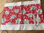 うさぎランチョンマット赤花※送料無料の画像