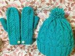 羊毛ミトン&帽子の画像
