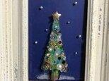 ガラスのクリスマスツリーです。の画像