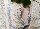 おしっぽコットンパールお花ウサギちゃん✾の画像