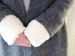 Organic Cotton Fur ふわふわ手首ウォーマーの画像