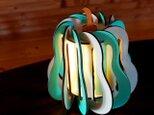 「洋梨」木製フロアランプの画像