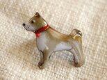 七宝焼ピンブローチ(ピンバッジ,ピンズ) 柴犬2の画像
