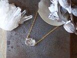 [一点物]原石のダイヤモンドクォーツのネックレスの画像