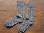 Leaf silk socks logwoodの画像