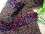 ふんわり♪やわらか~な手織りマフラーの画像