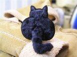 猫のしっぽ★黒猫のお尻★立体ワッペンの画像