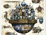 機械王国とロボット魚の世界・アートポスター(A3ノビ)の画像