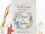 Starfish☆マリン ウェルカムボード 結婚式 wedding サーフの画像