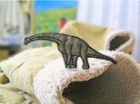 ★人気の恐竜プラキオサウルス/Dグリーン★ワッペン8.5の画像