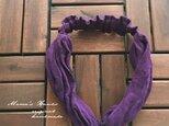東炊き ラベンダー 濃紫 リネン ターバン ヘアバンド♪の画像