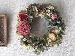 Peony & Rose Wreathの画像