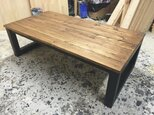 hotaru 男前家具 ローテーブル リビングテーブル 天然木 無垢材 オーダー可 人気商品の画像