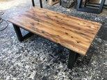 hotaru 男前家具 ローテーブル 天板1枚板 高級感 無垢材 天然木 オーダー可 ウォールナットの画像