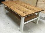 hotaru カントリー ローテーブル 棚付 無垢材 天然木 オーダー可の画像