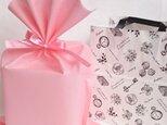 ラッピングBタイプ(ピンク)   陶器アレンジ用ラッピング&お渡し袋のセットの画像