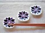 青紫の小花の箸置きの画像
