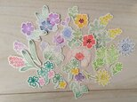 消しゴム版画「お花のシール」の画像