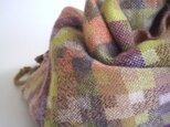 「Kさまご依頼品」手織りカシミアストール・・Autumn Colorsの画像