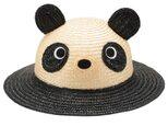 動物麦わら帽子 パンダ 子供用 52cm [UK-H010-PN52]の画像