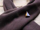 Lapislazuli Lapel pin w/ JapaneseLacquer, GoldLeafの画像
