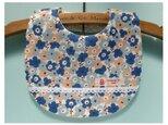 PURE*スタイ*3色Flower マリメッコ風コットン ブルー 白レース装飾 ライン付け 花柄の画像