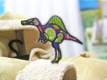 ★人気のスピノサウルス/キャンディポップ柄★ワッペン9.5の画像