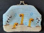 [再出品]ビーズ編みがま口財布 チンアナゴ柄の画像