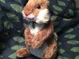 立ち型ウサギ(グレー)の画像