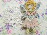 春の新作 春の花の妖精ブローチの画像