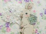 春の新作 羽根ウサギちゃんの画像