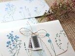 ブルーの花たちのレターセットの画像