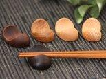 木の箸置き 豆形 木の種類いろいろ5種セットの画像