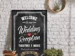 黒板風 アメリカンヴィンテージ★ウェルカムボード結婚式の画像