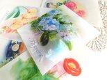 ワックスペーパー平袋3枚セット:花3の画像