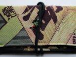 送料無料  モスの長襦袢で作った和風財布 3479の画像