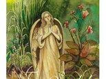 水彩・原画「花と天使」の画像