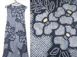 着物リメイク♪椿が素敵な有松絞り浴衣ワンピース♪ハンドメイド♪初夏♪藍染めの画像