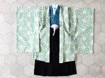 ◆羽織袴セット/麻の葉ミント/5歳【受注生産】の画像