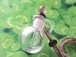 【再出品】小瓶のペンダント(ピンク×透明)の画像