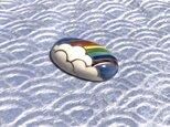 虹の帯留めの画像
