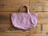 hanpu A4-tote : vintage pink  :の画像