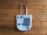 antique linen mini bag : blue :の画像